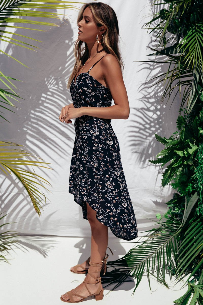 SOLE DRESS NAVY PRINT