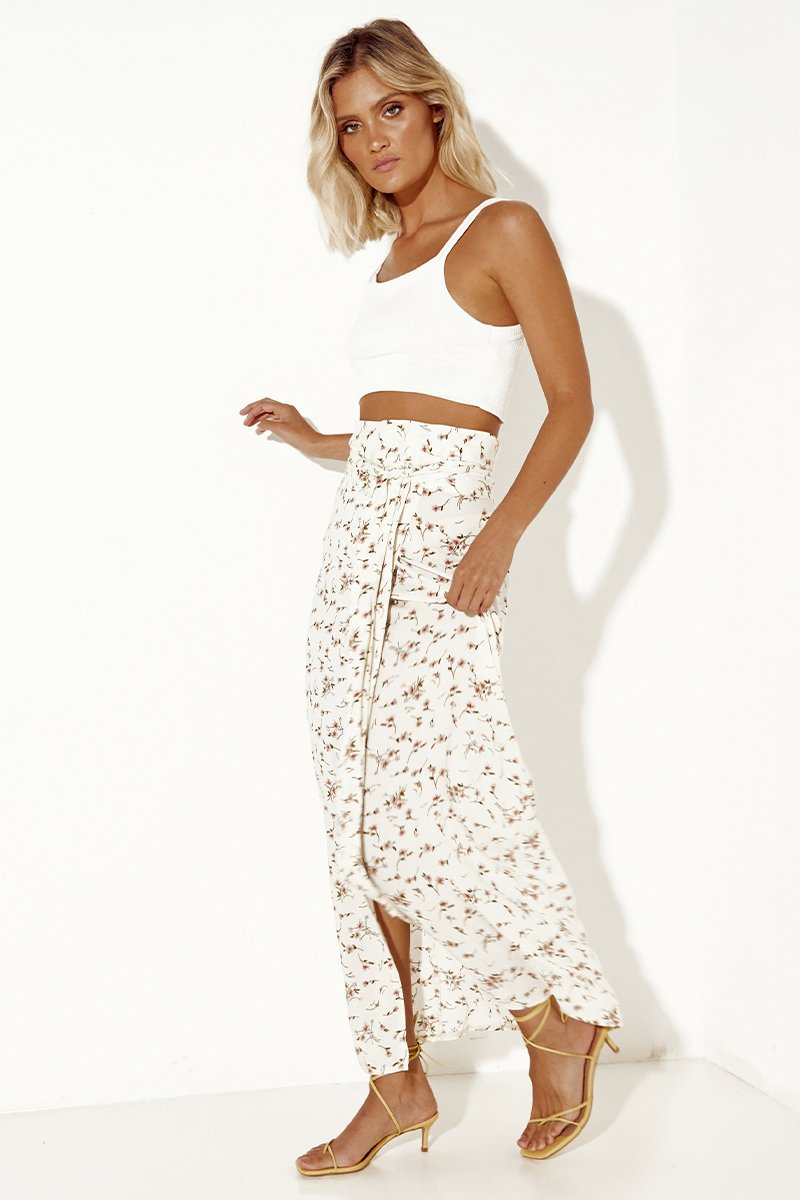 SOPHIE WRAP SKIRT - CREAM