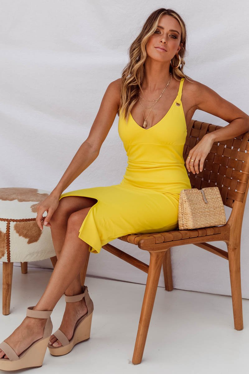 TAMMY DRESS - CANARY YELLOW