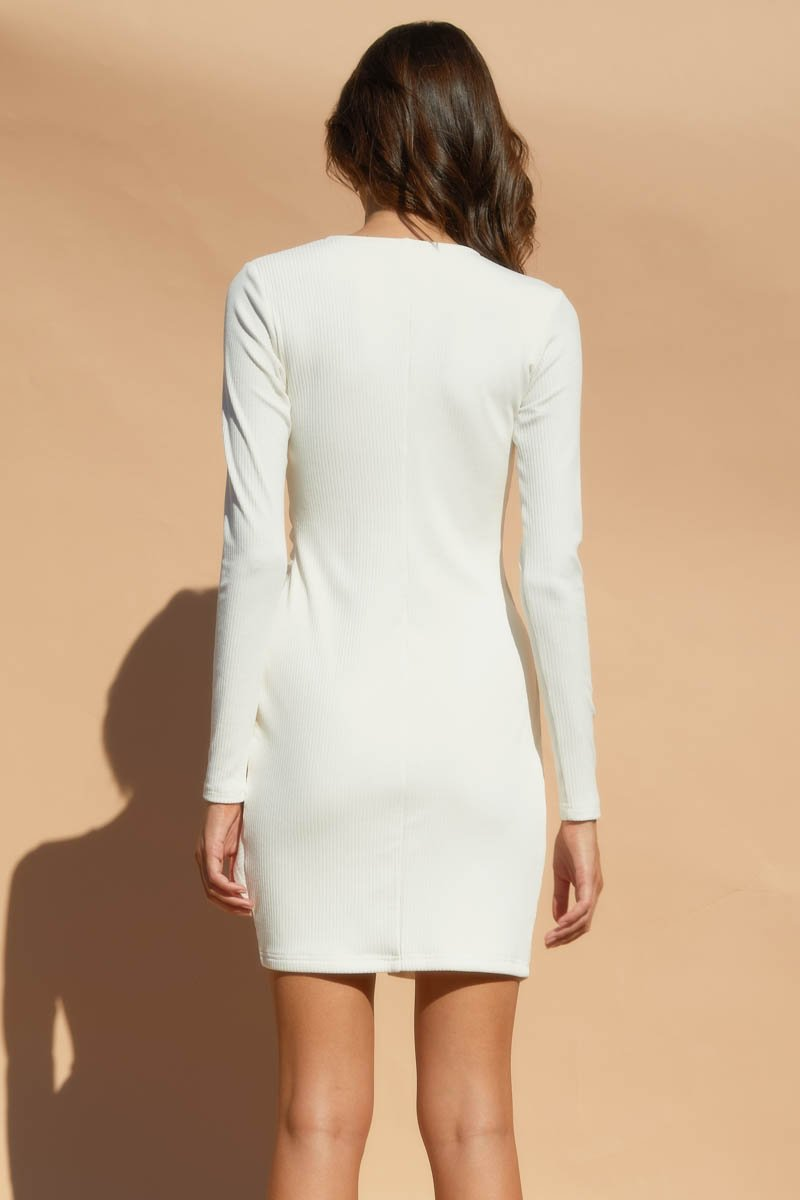 TEDDI DRESS - WHITE