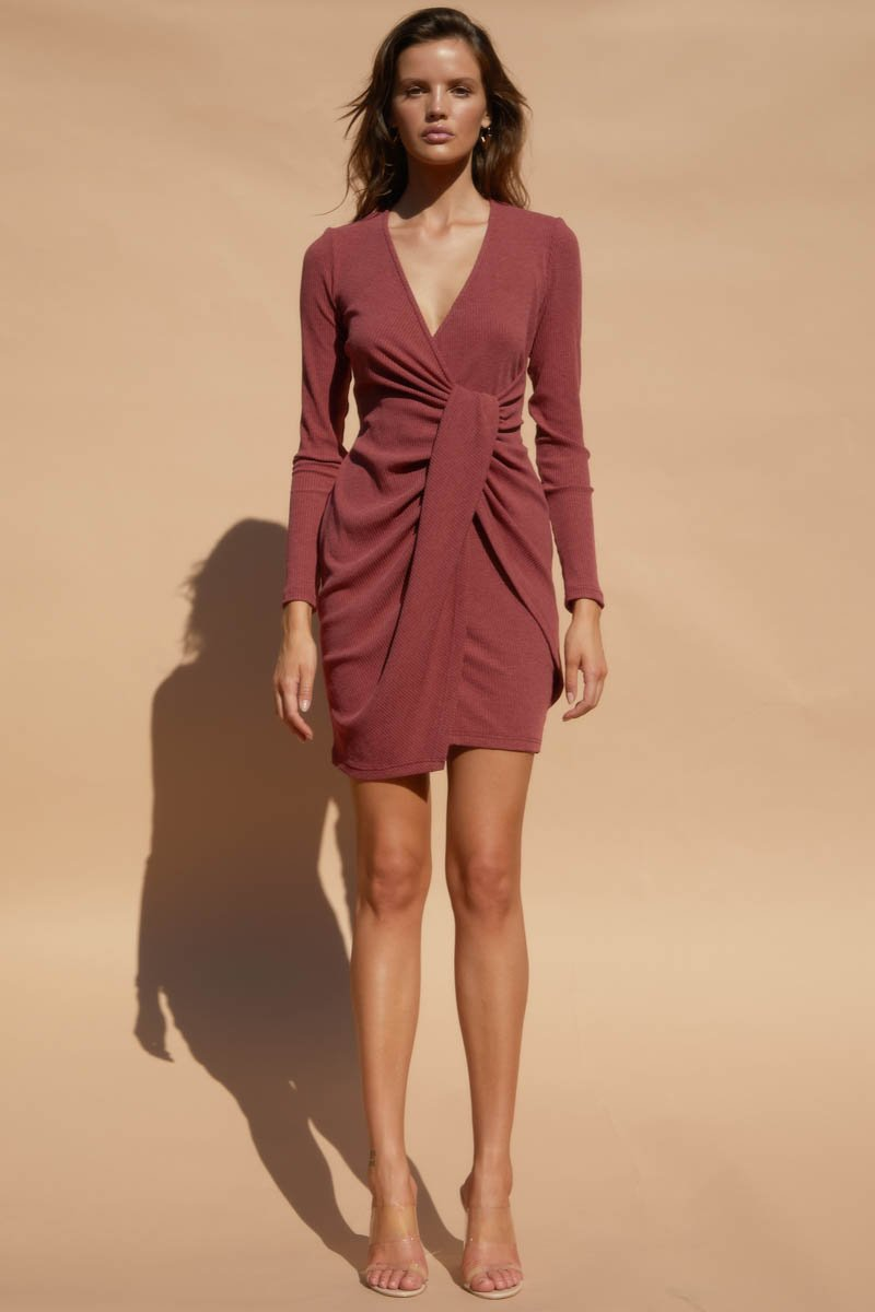 TEDDI DRESS - WINE