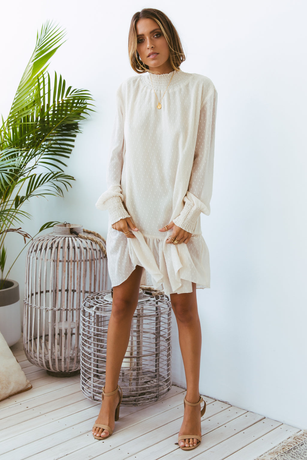 TERRI DRESS - CREAM