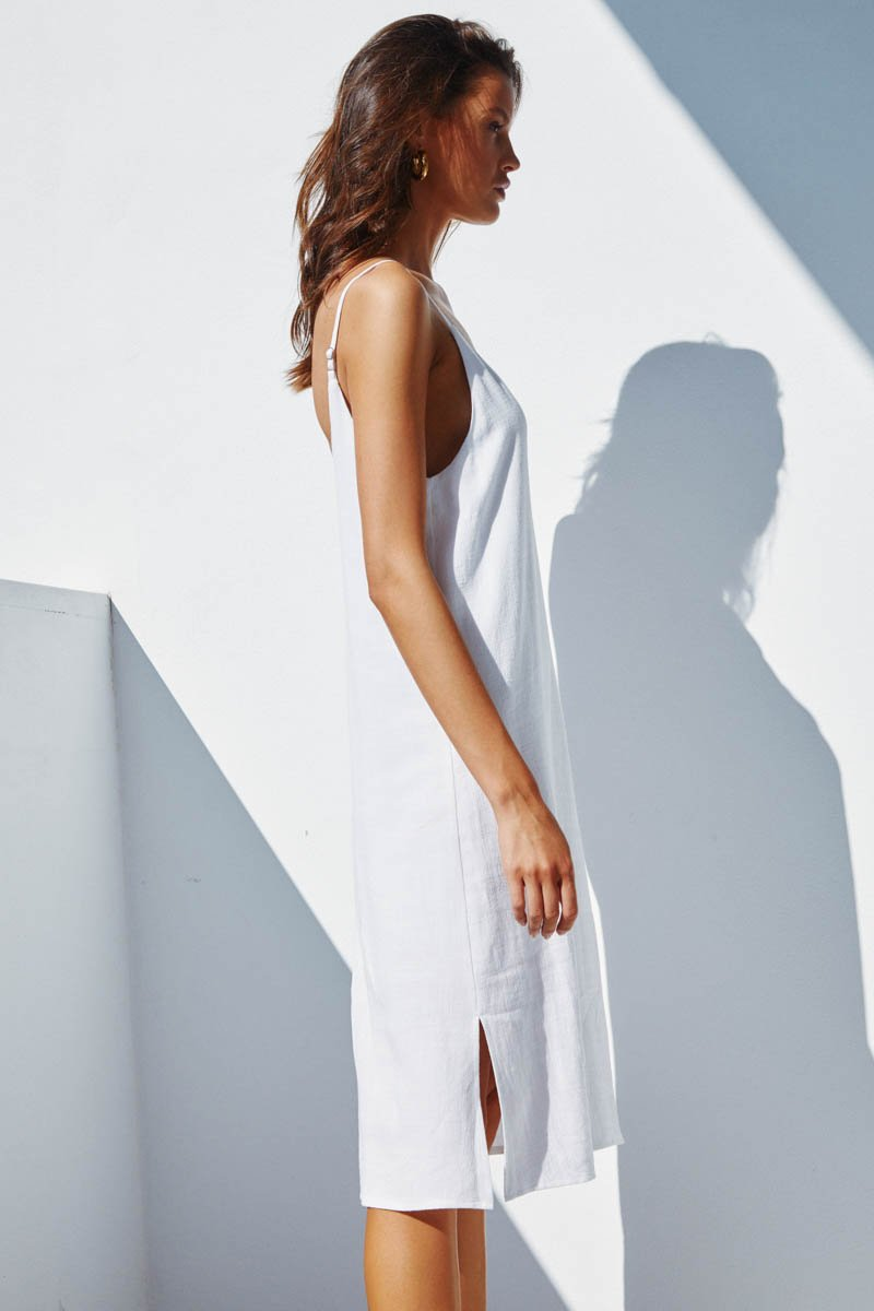 TUESDAY SLIP DRESS - WHITE