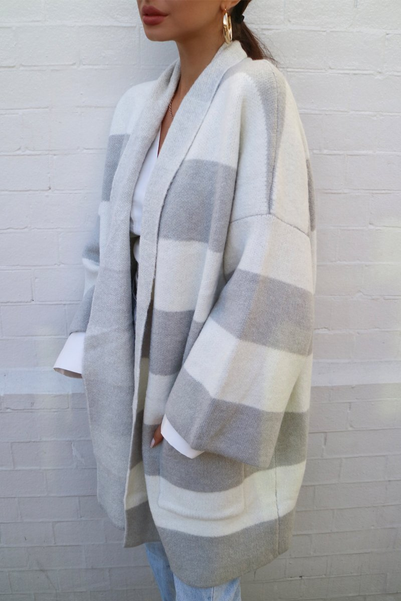 TALULAH OVERSIZED KNIT - GREY