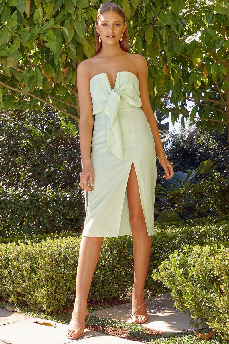 VILLA MIDI DRESS - MINT - PREORDER