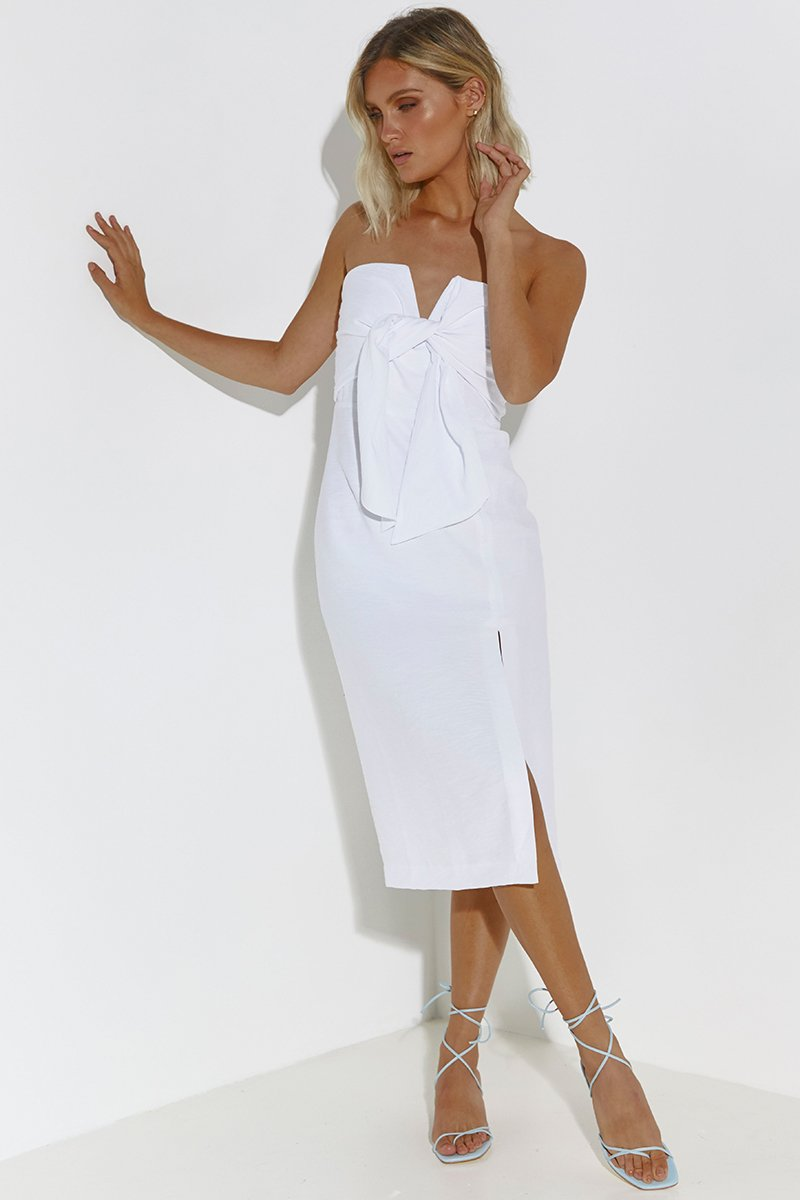 VILLA MIDI DRESS - WHITE - PREORDER