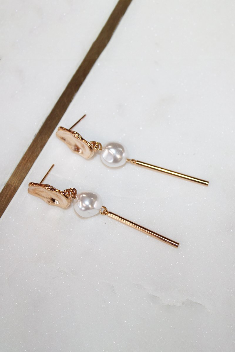PHOEBE EARRINGS - WHITE