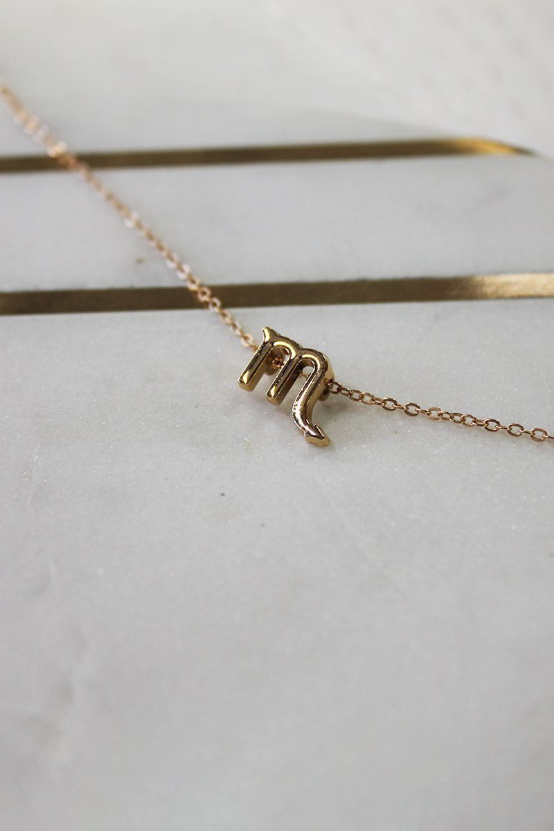 SCORPIO ZODIAC NECKLACE - GOLD