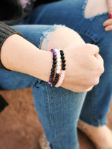 Pink, White, & Purple Diffuser Bracelet Bundle - Kumi Oils