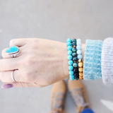 African Turquoise Diffuser Bracelet - Kumi Oils