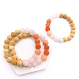 Sunset Dragon Vein Agate Bead Bracelet - Kumi Oils