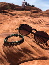 African Turquoise Diffuser Bracelet - Soothing Terra