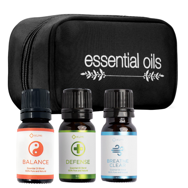 FLU & COLD 10ML ESSENTIAL OIL BUNDLE WITH CASE - Kumi Oils