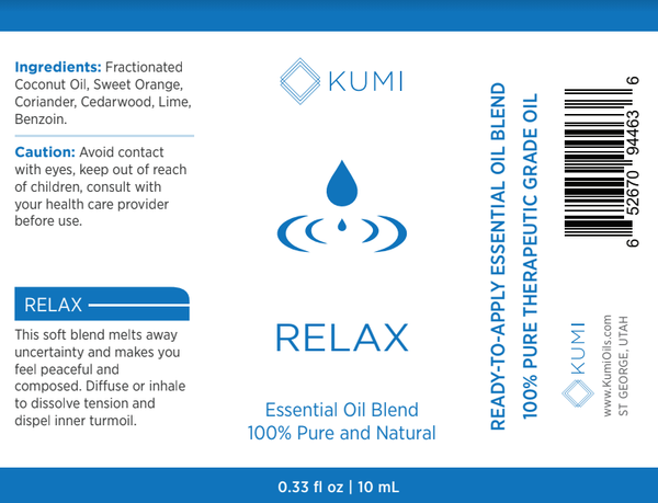 Relax Essential Oil Roll On - Kumi Oils