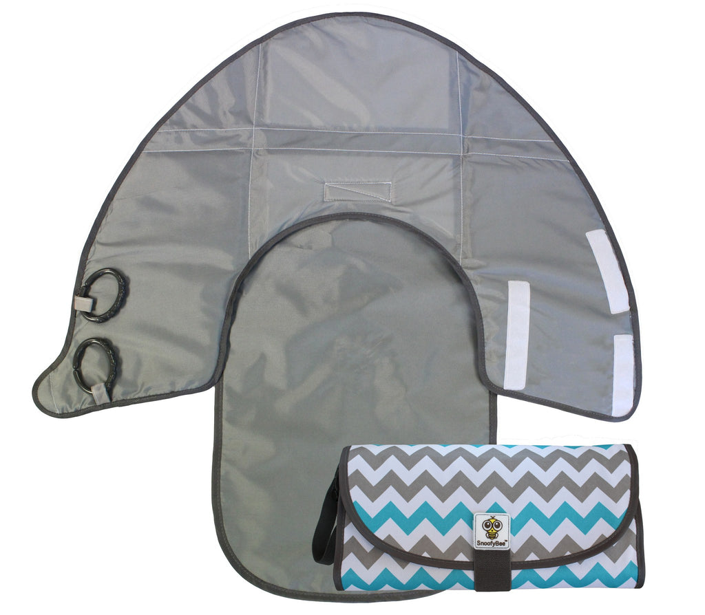 Chevron- DELUXE 3in1 Clean Hands Changing Pad FACTORY SECONDS - SnoofyBee.com