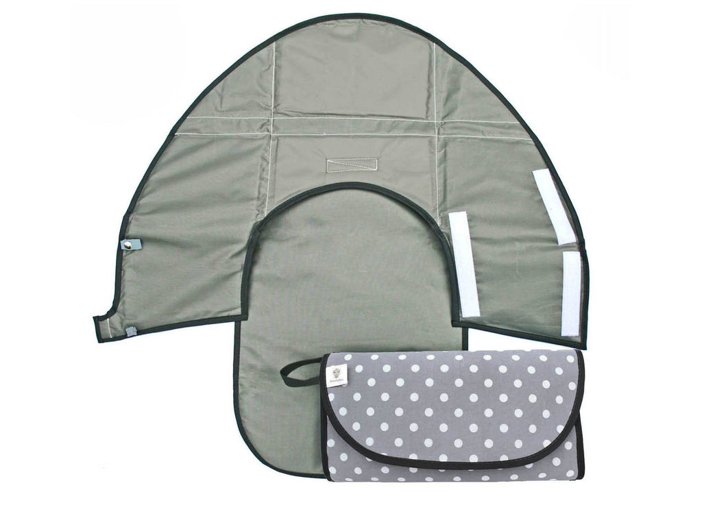 Grey Polkadot - Classic Clean Hands Changing Pad - SnoofyBee.com