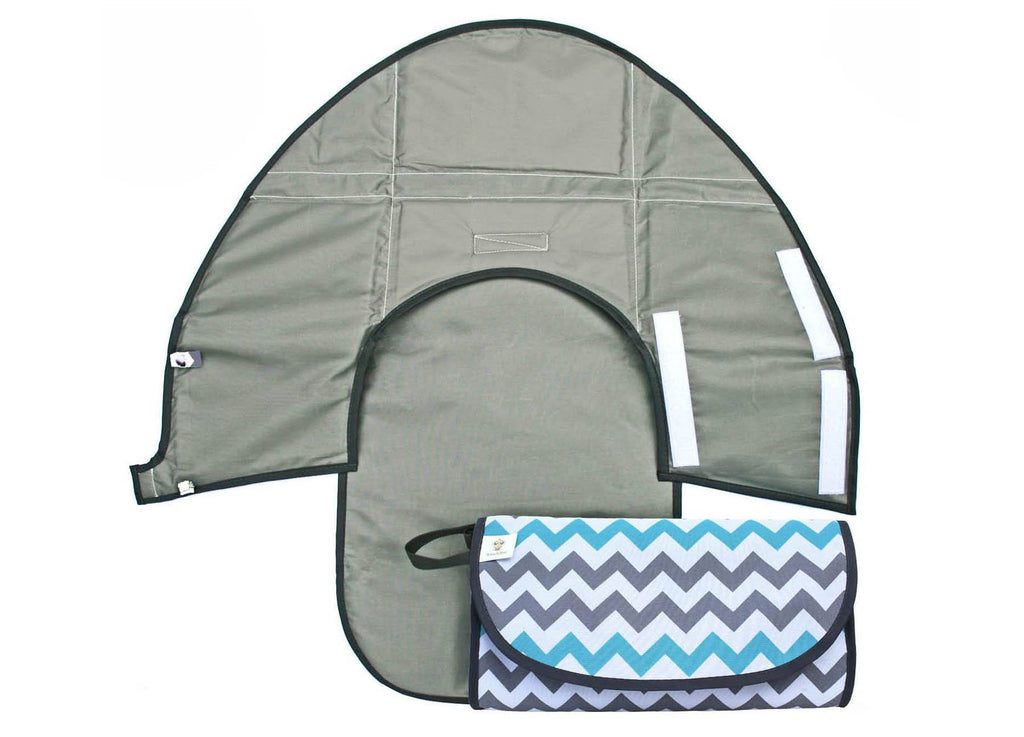 Teal Chevron - Classic Clean Hands Changing Pad - SnoofyBee.com