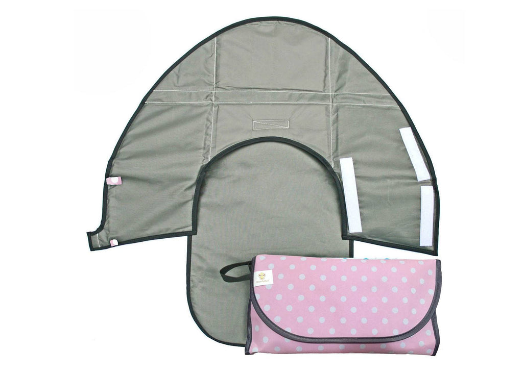 Pink Polkadot - Classic Clean Hands Changing Pad - SnoofyBee.com