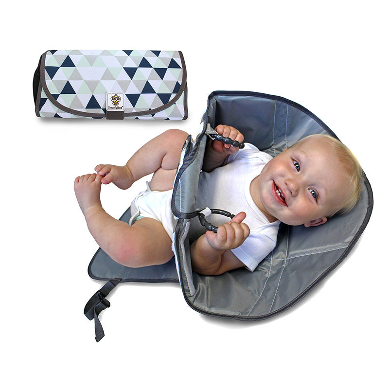 Triangles- DELUXE 3in1 Clean Hands Changing Pad - SnoofyBee.com