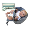 Bundle Blue Stripes - Clean Hands Changing Pad with Matching Pacifier Pod - SnoofyBee.com