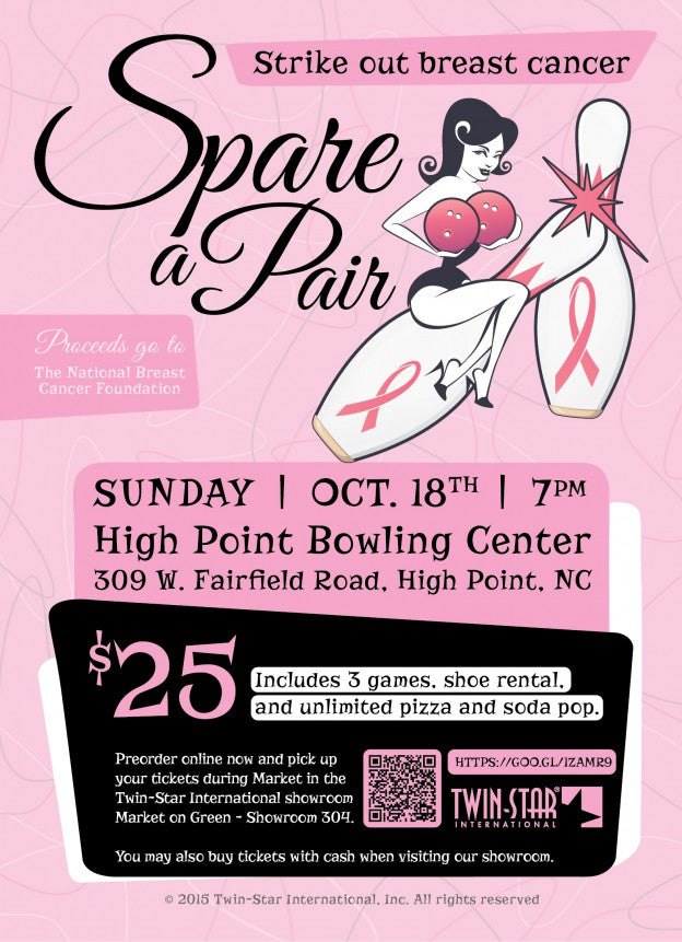 "Twin-Star International Sponsors ""Spare a Pair"" Bowling Fundraiser to Strike Out Breast Cancer"