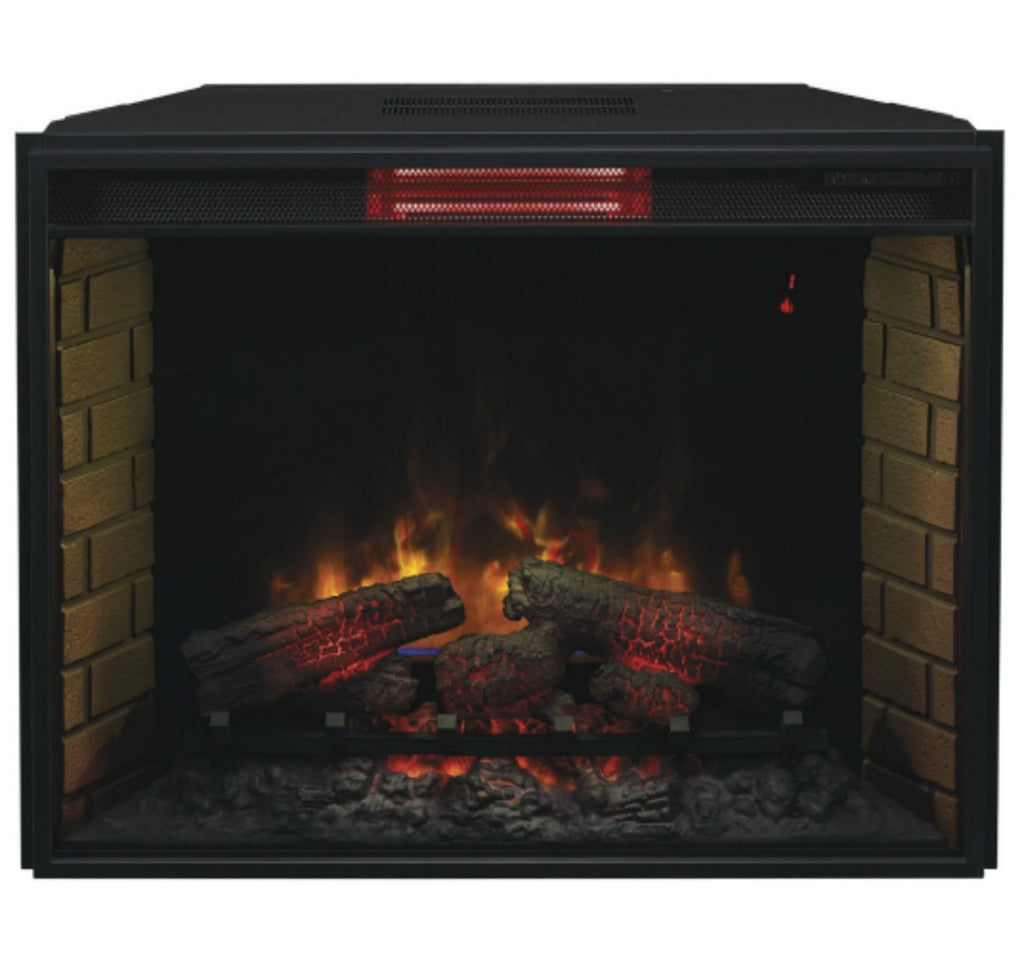 "The Modern Fireplace - ClassicFlame 33"" Fixed Glass Spectrafire Plus Electric Fireplace Insert (33II310GRA)"