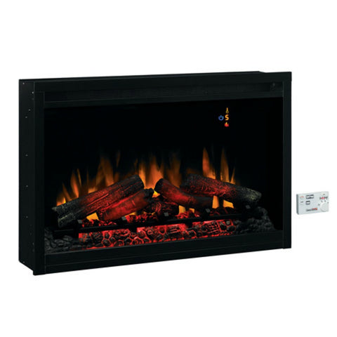 "The Modern Fireplace - ClassicFlame 36"" 220V Traditional Built In Electric Fireplace (36EB220-GRT)"