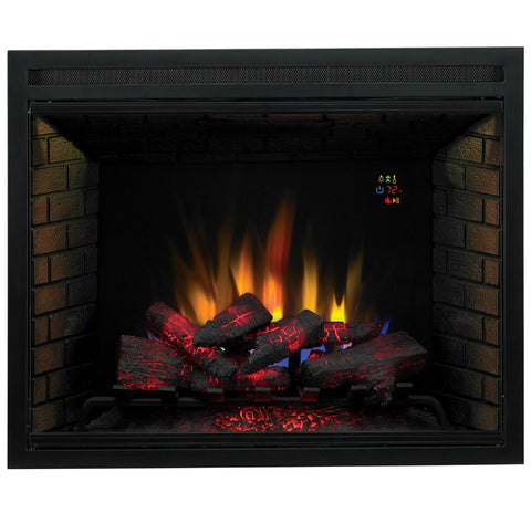 "The Modern Fireplace - ClassicFlame 39"" LED Built In Electric Fireplace (39EB500GRA)"