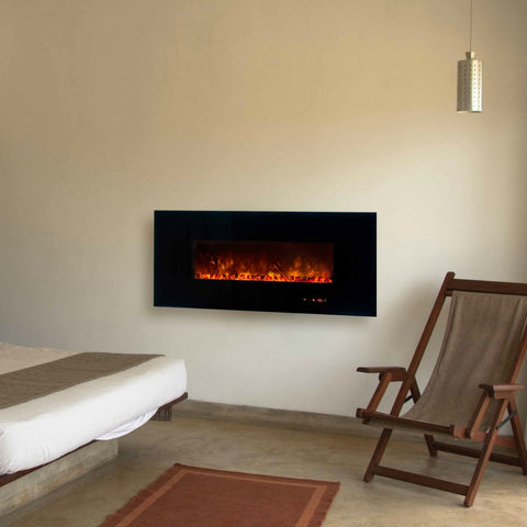 MODERN FLAMES 58″ AMBIANCE - WALL MOUNTED ELECTRIC FIREPLACE (AL-58-BG-2) - The Modern Fireplace
