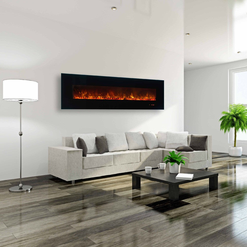 "Modern Flames 95"" Ambiance Linear (AL-95-BG2) - The Modern Fireplace"