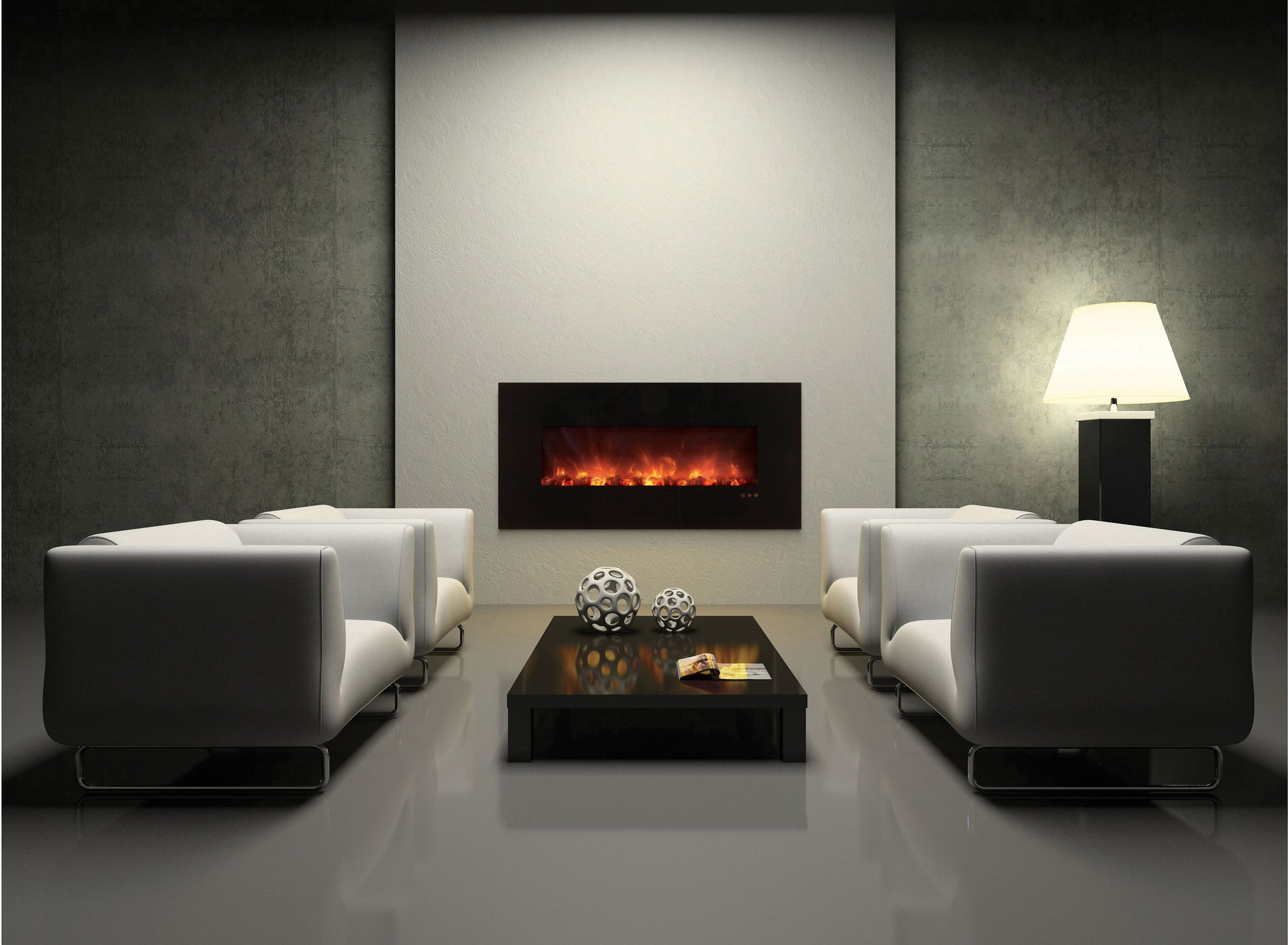 mounted recessed black product kennedy inch clearance zero and grade commercial electric fireplace ef house for wall