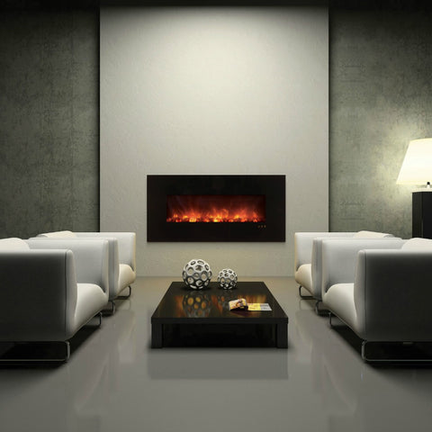 "MODERN FLAMES 60"" WALL MOUNTED ELECTRIC FIREPLACE (AL60CLX) - The Modern Fireplace"