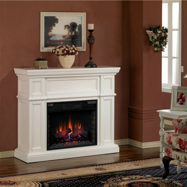 Cool Classic Flame Artesian Electric Fireplace Mantel White 28Wm426 T401 Home Interior And Landscaping Synyenasavecom
