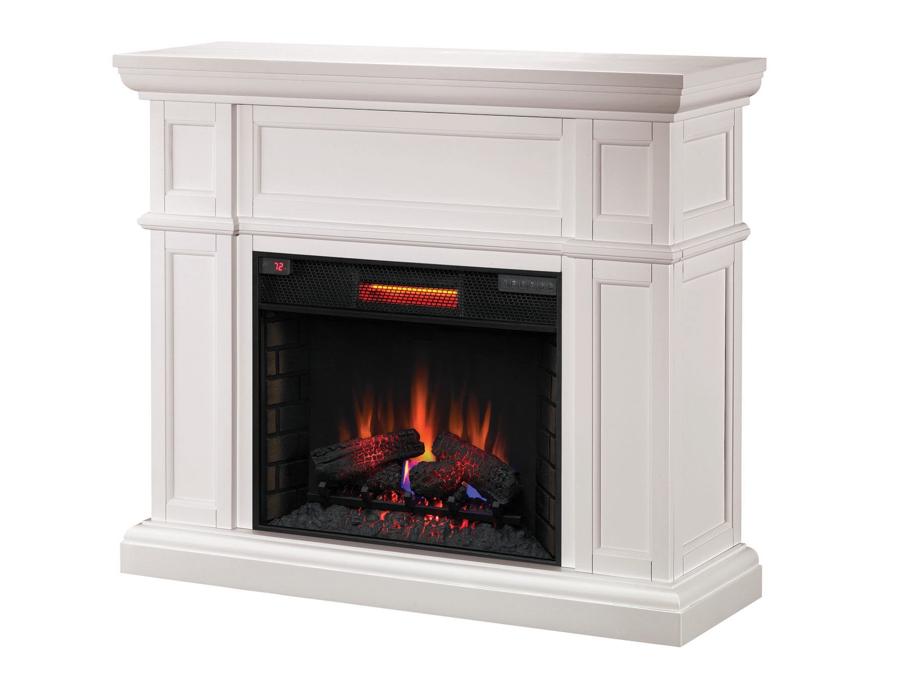 amazon dp classicflame stand larger fireplace com view with white separately electric enterprise tv