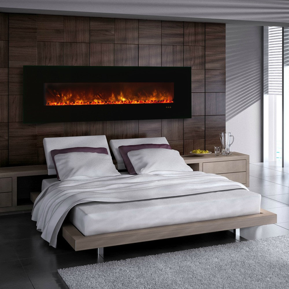 "Modern Flames 80"" Ambiance Wall Mount Electric Fireplace (AL80CLX-G) - The Modern Fireplace"
