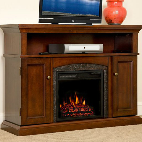Lynwood Electric Fireplace Media Cabinet Vintage Cherry (18MM4105-C233) - The Modern Fireplace