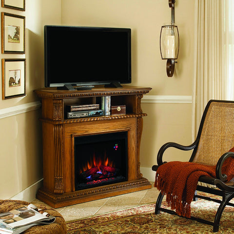 Classic Flame Corinth Electric Fireplace Mantel Premium Oak (23DE1447-O107)
