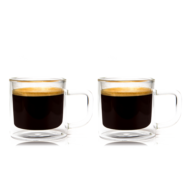 Epare 8 Oz Latte Glass Mug Set Of 2