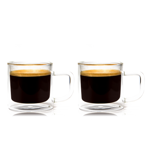 Eparé 8 oz. Latte Glass Mug (Set of 2)
