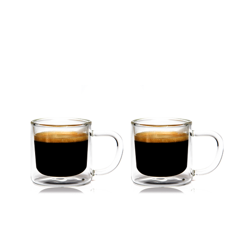 Eparé 4 oz. Espresso Glass Mug (Set of 2)