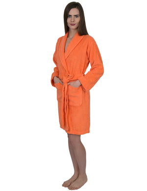 TowelSelections Womens Short Turkish Cotton Robe Terry Bathrobe