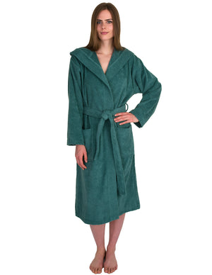 TowelSelections Women's Robe Turkish Cotton Hooded Terry Bathrobe