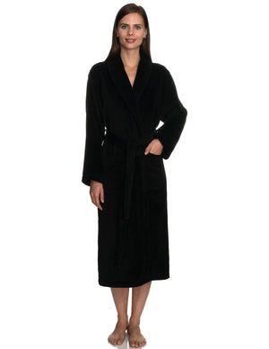TowelSelections Women's Robe Turkish Cotton Terry Velour Bathrobe