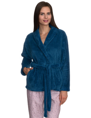 TowelSelections Women's Bed Jacket Fleece Cardigan Cuddly Robe