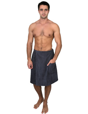 TowelSelections Men's Wrap, Shower & Bath Terry Towel with Snaps