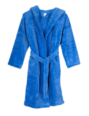 TowelSelections Girls Robe, Kids Plush Hooded Fleece Bathrobe