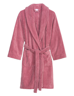TowelSelections Women's Robe, Plush Fleece Short Spa Bathrobe