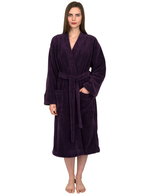 TowelSelections Women's Plush Robe Soft Fleece Kimono Bathrobe