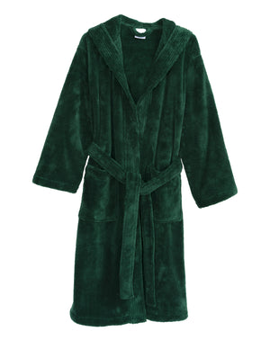 TowelSelections Women's Robe, Plush Fleece Hooded Spa Bathrobe