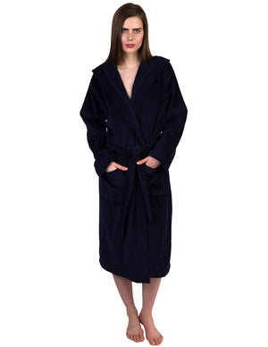 TowelSelections Women's Robe, Hooded Terry Velour Cotton Bathrobe